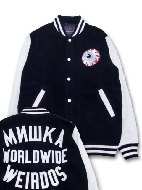 [MISHKA] KEEP WATCH WORLDWIDE VARSITY JACKET