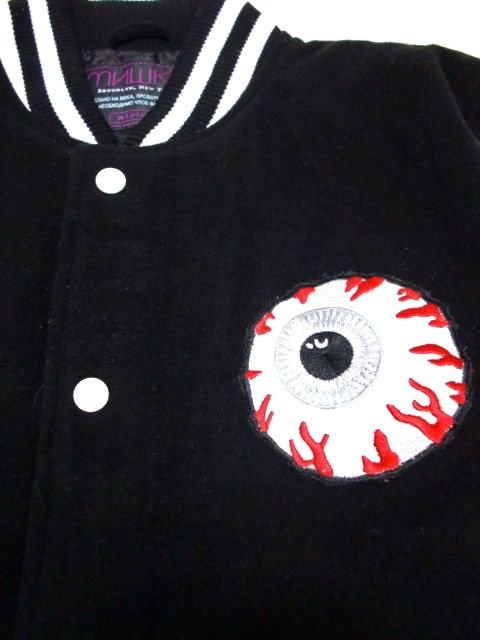 [MISHKA] KEEP WATCH WORLDWIDE VARSITY JACKET1