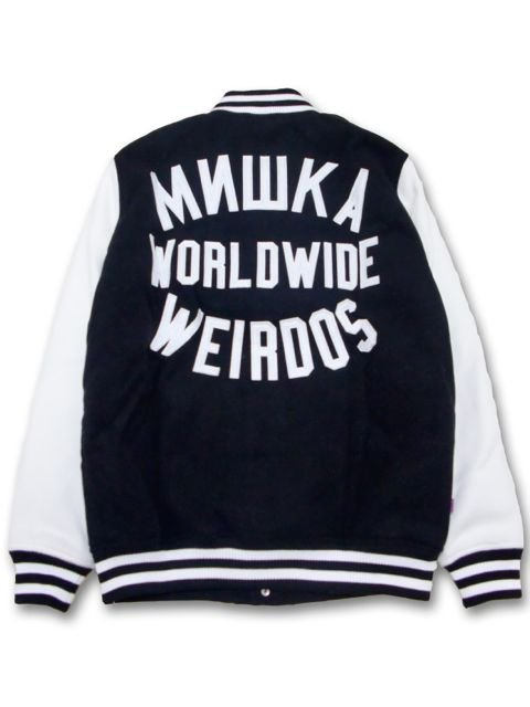 [MISHKA] KEEP WATCH WORLDWIDE VARSITY JACKET2