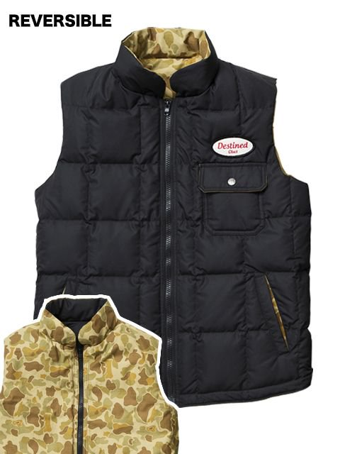 [CLUCT] REVERSIBLE DOWN VEST