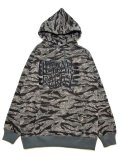 [LEFLAH] Tiger camo sweat parka(BK)