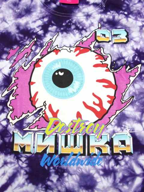[MISHKA] DEMO DERBY KEEP WATCH L/S TIE DYE TEE1