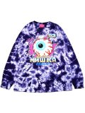[MISHKA] DEMO DERBY KEEP WATCH L/S TIE DYE TEE