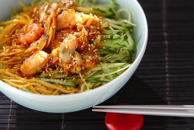 豆乳中華麺(特製冷麺スープ付き)×5食分
