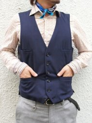 Junhashimoto/4 POCKET VEST(NAVY)<img class='new_mark_img2' src='https://img.shop-pro.jp/img/new/icons50.gif' style='border:none;display:inline;margin:0px;padding:0px;width:auto;' />