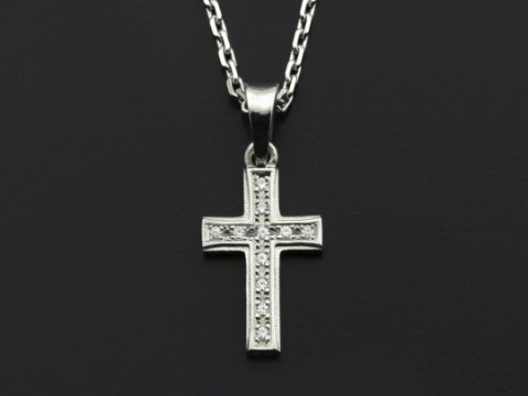 Sossmall gravity cross necklace silver wcz sossmall gravity cross necklace silver wcz mozeypictures Images