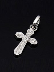 【S.O.S】Smooth Cross Pendant -M SV w/Clear<img class='new_mark_img2' src='//img.shop-pro.jp/img/new/icons50.gif' style='border:none;display:inline;margin:0px;padding:0px;width:auto;' />