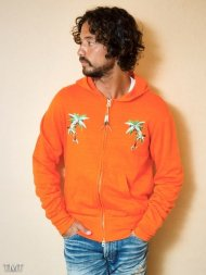 TMT2018SS/MULTI SLUB FRENCH TERRY ZIP PARKA(TREE EMBROIDERY)(ORANGE)<img class='new_mark_img2' src='https://img.shop-pro.jp/img/new/icons50.gif' style='border:none;display:inline;margin:0px;padding:0px;width:auto;' />