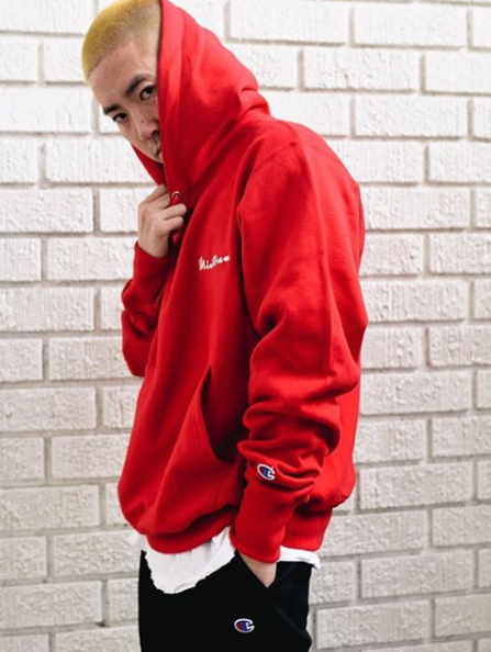 MINTCREW/ChampionSweatHoodie(RED)
