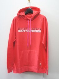M/reverse sweat pull over hoodie (FUCK YOU FRIENDS)(high light pink)<img class='new_mark_img2' src='//img.shop-pro.jp/img/new/icons1.gif' style='border:none;display:inline;margin:0px;padding:0px;width:auto;' />