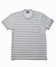 (予約)TMT/S/SL IZMIR COTTON PILE BORDER POCKET T(GRAY)期日:3/25 19時まで<img class='new_mark_img2' src='https://img.shop-pro.jp/img/new/icons1.gif' style='border:none;display:inline;margin:0px;padding:0px;width:auto;' />