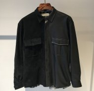 FORSOMEONE先行予約/LEATHER ARMY SHIRT<img class='new_mark_img2' src='//img.shop-pro.jp/img/new/icons50.gif' style='border:none;display:inline;margin:0px;padding:0px;width:auto;' />