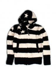 TMT先行予約/SHAGGY BOA US FLAG KNIT PARKA(BLACK)<img class='new_mark_img2' src='//img.shop-pro.jp/img/new/icons1.gif' style='border:none;display:inline;margin:0px;padding:0px;width:auto;' />