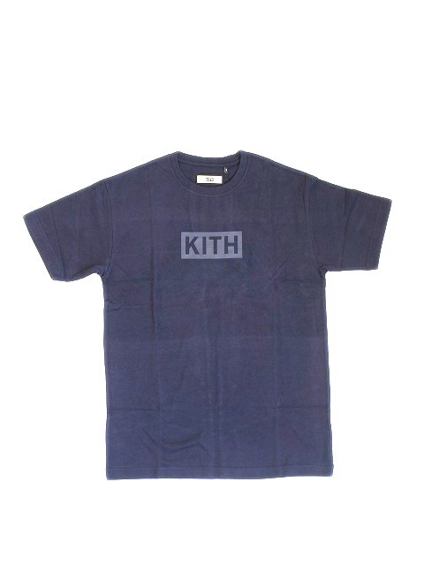KITH NYC/BOX LOGO TEE NAVY