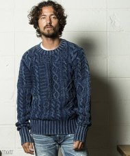 TMT2018AW/HQ HANDKNIT CABLE PATCHWORK OULLOVER(INDIGO)<img class='new_mark_img2' src='https://img.shop-pro.jp/img/new/icons50.gif' style='border:none;display:inline;margin:0px;padding:0px;width:auto;' />
