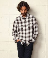 TMT2019SS/RAYON TWILL OMBRE CHECK SHIRTS(BROWN)<img class='new_mark_img2' src='https://img.shop-pro.jp/img/new/icons50.gif' style='border:none;display:inline;margin:0px;padding:0px;width:auto;' />