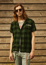 TMT2019SS/ORIGINAL RAYON BUFFALO CHECK S/SL SHIRTS(GREEN)<img class='new_mark_img2' src='https://img.shop-pro.jp/img/new/icons50.gif' style='border:none;display:inline;margin:0px;padding:0px;width:auto;' />