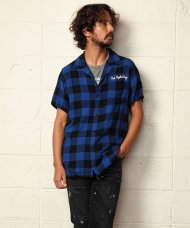 TMT2019SS/ORIGINAL RAYON BUFFALO CHECK S/SL SHIRTS(BLUE)<img class='new_mark_img2' src='https://img.shop-pro.jp/img/new/icons1.gif' style='border:none;display:inline;margin:0px;padding:0px;width:auto;' />