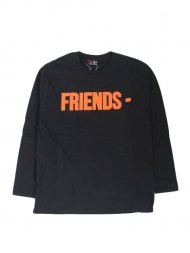 VLONE/FRIENDS LS TEE(BLACK)<img class='new_mark_img2' src='https://img.shop-pro.jp/img/new/icons50.gif' style='border:none;display:inline;margin:0px;padding:0px;width:auto;' />