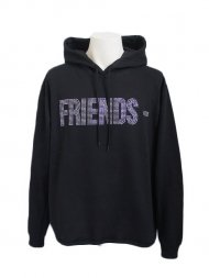 VLONE/FRIENDS HOODIE(BLACK)ラインストーン<img class='new_mark_img2' src='https://img.shop-pro.jp/img/new/icons50.gif' style='border:none;display:inline;margin:0px;padding:0px;width:auto;' />