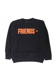 VLONE/FRIENDS CREW SWEAT(BLACK)<img class='new_mark_img2' src='https://img.shop-pro.jp/img/new/icons24.gif' style='border:none;display:inline;margin:0px;padding:0px;width:auto;' />