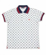 TMT2019AW/PRIMEFLEX MOSS STITCH POLO SHIRT(TMT PATTERN)(WHITE)<img class='new_mark_img2' src='https://img.shop-pro.jp/img/new/icons1.gif' style='border:none;display:inline;margin:0px;padding:0px;width:auto;' />