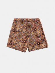 KITH NYC/KITH HARDAWAY SATIN MOROCCAN GEOMETRIC PRINT SHORTS<img class='new_mark_img2' src='https://img.shop-pro.jp/img/new/icons1.gif' style='border:none;display:inline;margin:0px;padding:0px;width:auto;' />