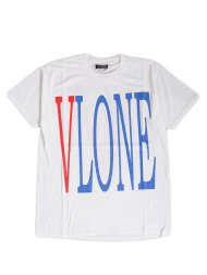VLONE/LOGO SS TEE(WHITE)トリコロール<img class='new_mark_img2' src='https://img.shop-pro.jp/img/new/icons55.gif' style='border:none;display:inline;margin:0px;padding:0px;width:auto;' />