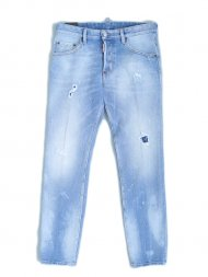 Dsquared2/Light Blue Holes Skater Jeans<img class='new_mark_img2' src='https://img.shop-pro.jp/img/new/icons1.gif' style='border:none;display:inline;margin:0px;padding:0px;width:auto;' />