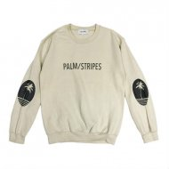 LOGO SWEAT CREW by PALM/STRIPES<img class='new_mark_img2' src='https://img.shop-pro.jp/img/new/icons55.gif' style='border:none;display:inline;margin:0px;padding:0px;width:auto;' />