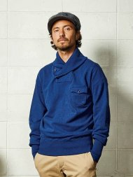 TMT2020AW/SHAWL-COLLAR INDIGO SWEAT SHIRTS<img class='new_mark_img2' src='https://img.shop-pro.jp/img/new/icons1.gif' style='border:none;display:inline;margin:0px;padding:0px;width:auto;' />