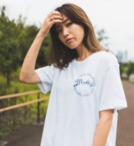 MARBLES/CIRCLE NEO-LOGO TEE / WHITE<img class='new_mark_img2' src='https://img.shop-pro.jp/img/new/icons1.gif' style='border:none;display:inline;margin:0px;padding:0px;width:auto;' />
