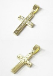 【受注生産】【S.O.S】Gravity Cross Pendant K18 YG w/Diamond(TOPのみチェーンなし)<img class='new_mark_img2' src='https://img.shop-pro.jp/img/new/icons55.gif' style='border:none;display:inline;margin:0px;padding:0px;width:auto;' />