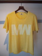 M / short sleeve vintage style  t-shirts (wjk by M/MW)(YELLOW)��