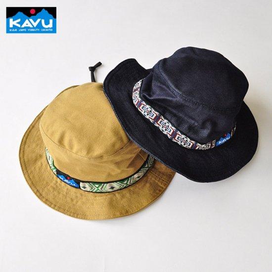 6975bcde9 KAVU カブ― バケットハット Strap Bucket Hat ストラップバケットハット Lサイズ デニム カーキ 帽子 アウトドア