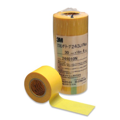 3M マスキングテープ 243J PLUS 30mm×18m×4巻