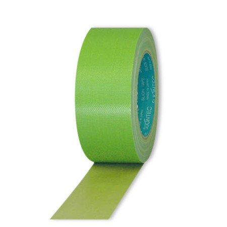 スリオンテック 養生用布粘着テープ ライトグリーン 50mm×25m