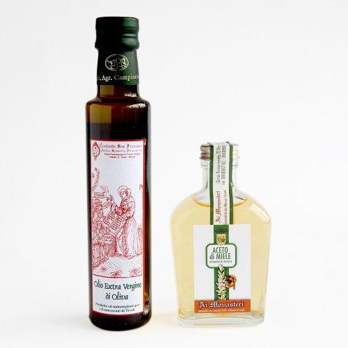フランチェスコ修道会のオリーブオイル・蜂蜜ビネガーギフトセット のイメージ