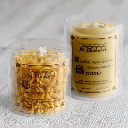 天然蜜蝋のアロマキャンドル2本ギフトセット のイメージ