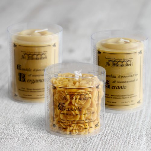 天然蜜蝋のアロマキャンドル3本ギフトセット のイメージ
