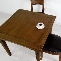 送料無料!!チーク【ダヴィンド】ダイニングテーブル (900)<br>アジアン家具