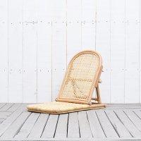 送料無料 ラタン【ビーチ】フロアチェア<br>アジアン家具