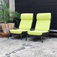 送料無料シンセティックラタン・イージーチェア(グリーン)<br>アウトドア家具ガーデン家具