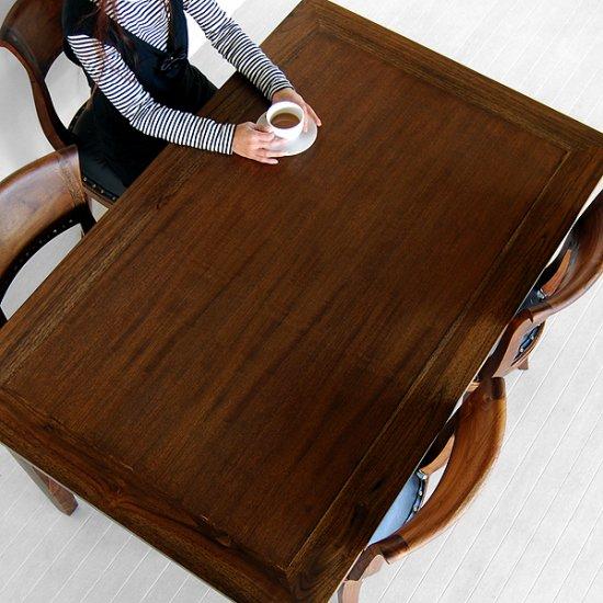 送料無料!!チーク【ダヴィンド】ダイニングテーブル (1400)アジアン家具