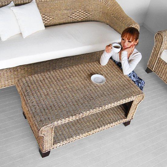 送料無料!! ラタン【アリゾナ】コーヒーテーブルカフェテーブル/アジアン家具