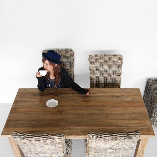セール!!送料無料!! オールドチーク【レジナ】ダイニングテーブルアジアン家具