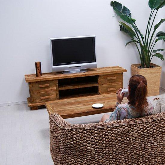 セール!!★送料無料!!オールドチーク【レジナ】TVボード with 4 Drawer/CORIGGE MARKET