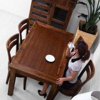 送料無料 チーク【サクラ】ダイニングテーブル (130x80)<br>アジアン家具