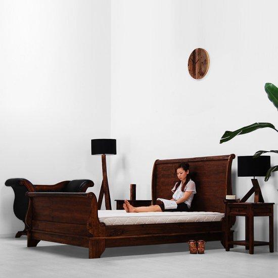 予約 セール!!送料無料!!チーク【スレイ】ベッド(クィーン)アジアン家具の店 CORIGGE MARKET