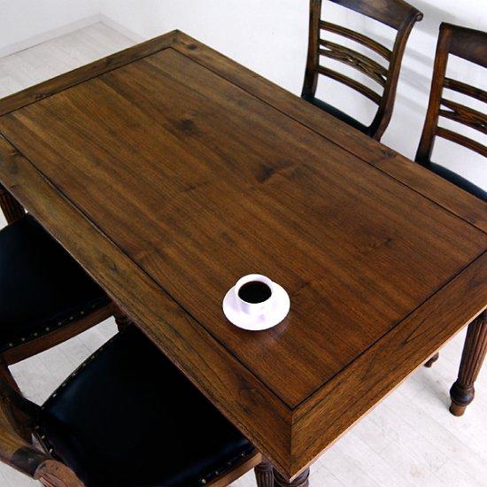 送料無料!チーク【ラッフルス】ダイニングテーブル (1600)アジアン家具